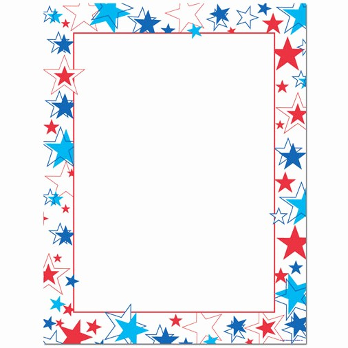Patriotic Borders for Word Documents Luxury Red White & Blue Stars Patriotic Border Paper Your