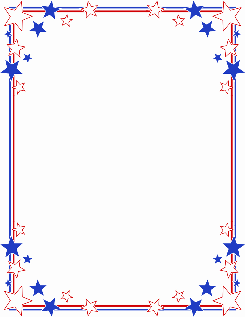Patriotic Borders for Word Documents Luxury Stripes Page Border Stars Stripes Border Clipart
