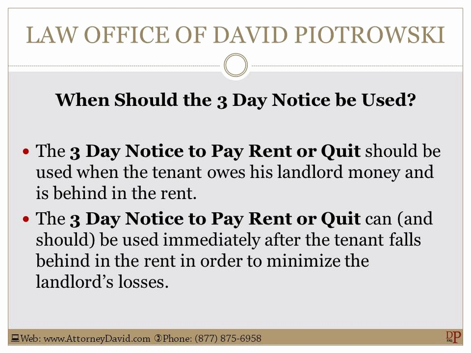 Pay or Quit Notice Sample Luxury California 3 Day Notice to Pay or Quit Sample