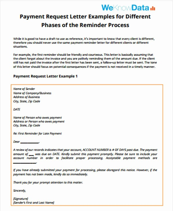 Payment Request Letter to Client Fresh Follow Up Letter Template 9 Free Sample Example format