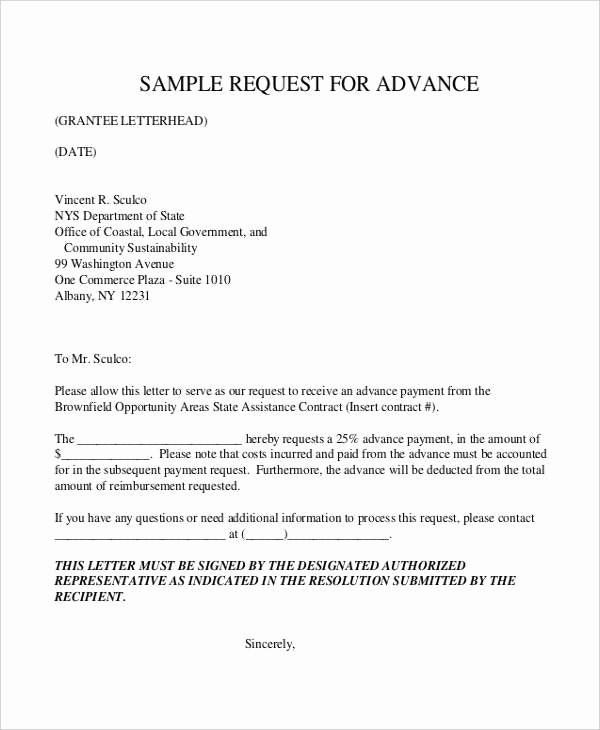 Payment Request Letter to Client Unique Advance Payment Letter format to Client Filename