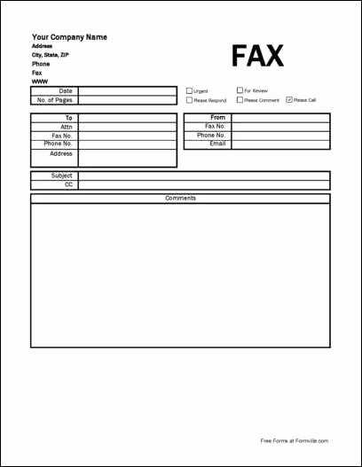 Pdf Fax Cover Sheet Fillable Beautiful Free Detailed Pany Fax Cover Sheet From formville