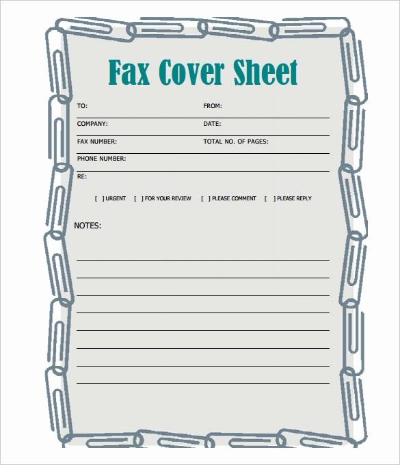 Pdf Fax Cover Sheet Fillable Beautiful Free Printable Fax Cover Sheet No Simple Fax