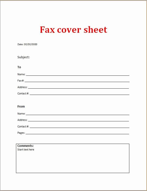 Pdf Fax Cover Sheet Fillable Elegant Fax Cover Sheet