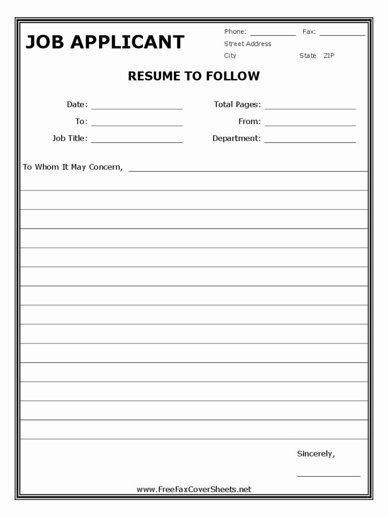 Pdf Fax Cover Sheet Fillable Unique Sample Resume Fax Cover Sheet Edit Fill Sign Line