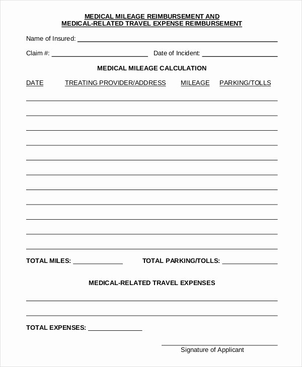 reimbursement form template free