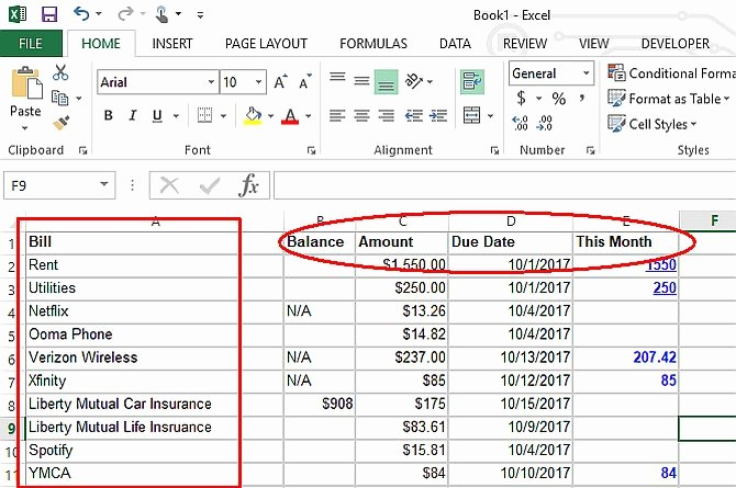 Personal Budget Exercise Ms Excel Inspirational Make A Personal Bud On Excel In 4 Easy Steps