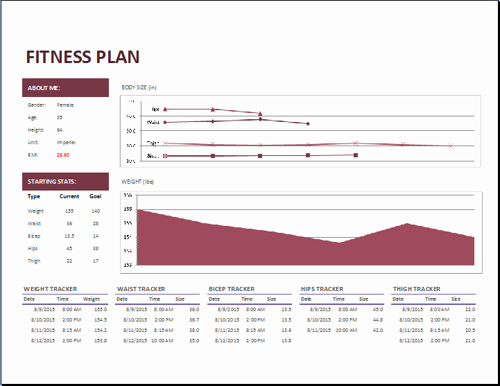 Personal Budget Exercise Ms Excel Lovely Ms Excel Fitness Planner Template