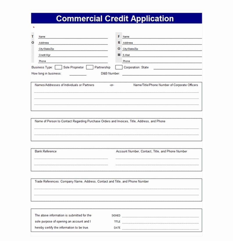 Personal Credit Application form Free Beautiful Credit Application Template