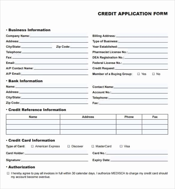 Personal Credit Application form Free Fresh 8 Credit Application Templates Excel Excel Templates