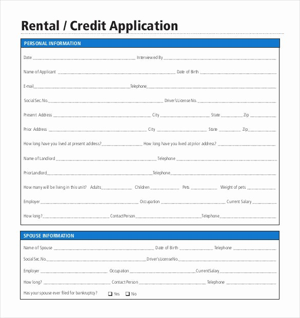 Personal Credit Application form Free New Credit Application Template 33 Examples In Pdf Word