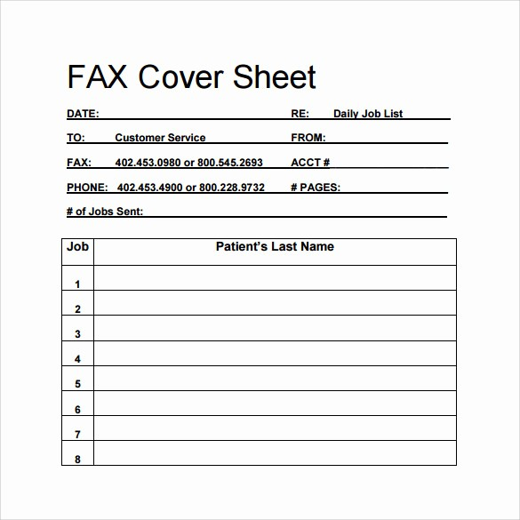 Personal Fax Cover Sheet Pdf Lovely 15 Sample Blank Fax Cover Sheets
