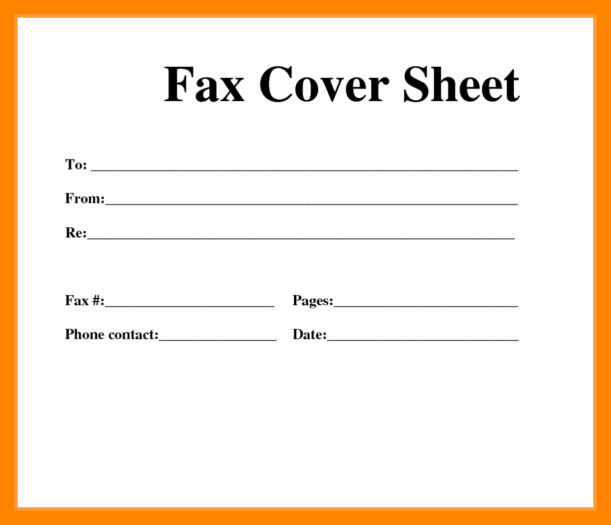 Personal Fax Cover Sheet Pdf New 11 Free Printable Blank Fax Cover Sheet