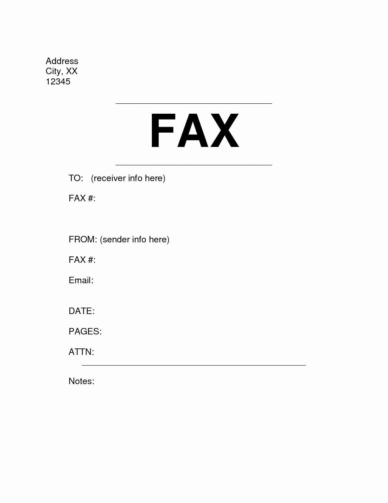Personal Fax Cover Sheet Pdf Unique Microsoft Fice Fax Cover Sheet Template