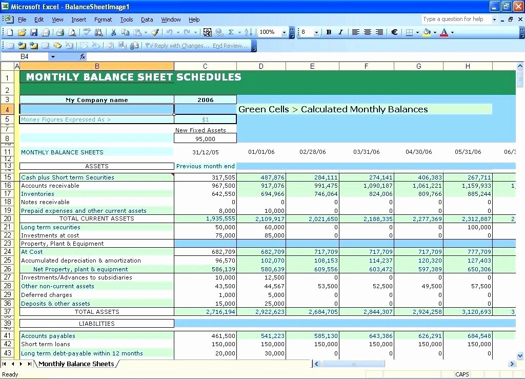 Personal Finance Balance Sheet Template Beautiful Microsoft Excel Personal Financial Statement Template