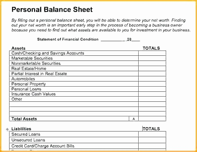 Personal Finance Balance Sheet Template Beautiful Personal Finance Balance Sheet Template Personal Financial