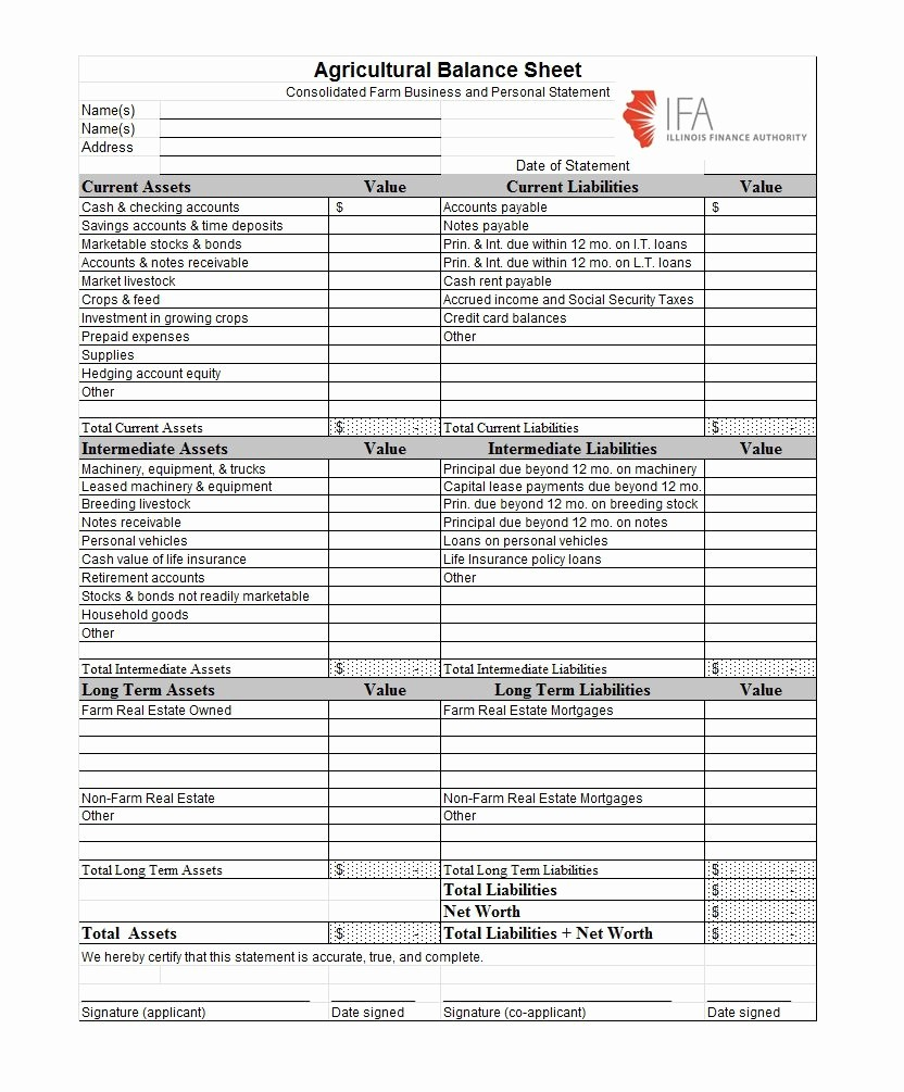 Personal Finance Balance Sheet Template Luxury 38 Free Balance Sheet Templates & Examples Template Lab