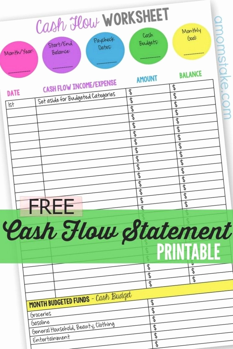 Personal Finance Cash Flow Statement Awesome Personal Cash Flow Statement Worksheet