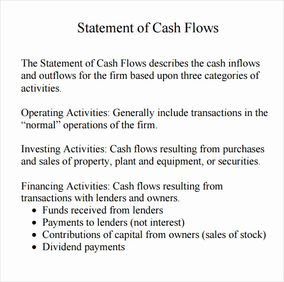 Personal Finance Cash Flow Statement Best Of 7 Cash Flow Statement Samples Examples Templates