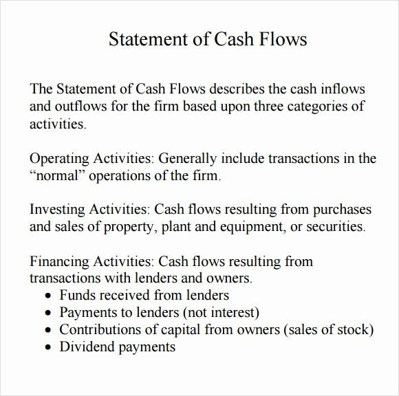 Personal Finance Cash Flow Statement Best Of 7 Cash Flow Statement Samples Examples Templates