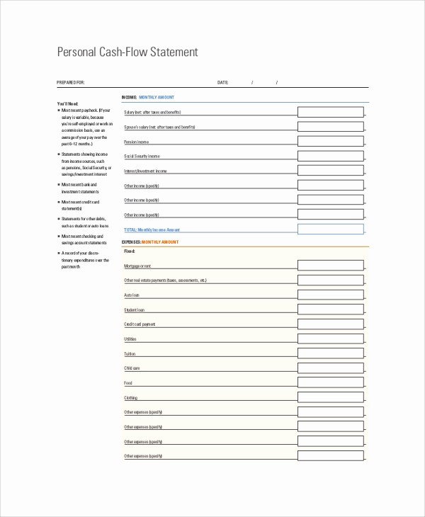Personal Finance Cash Flow Statement Inspirational 8 Sample Cash Flow Statements – Pdf Doc