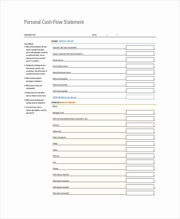 Personal Finance Cash Flow Statement Inspirational 8 Sample Cash Flow Statements – Pdf Doc