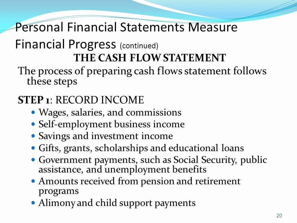 Personal Finance Cash Flow Statement Lovely Money Management Strategy Financial Statements and