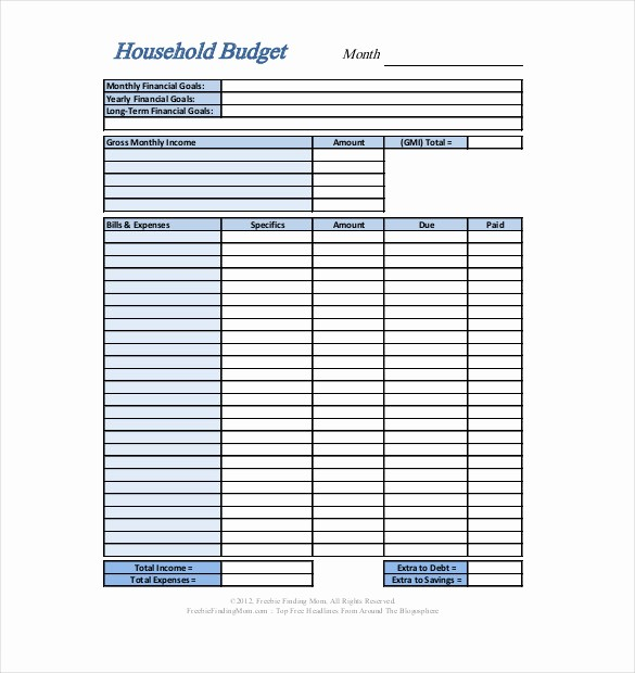 Personal Financial Plan Template Word Best Of Personal Bud Template – 10 Free Word Excel Pdf