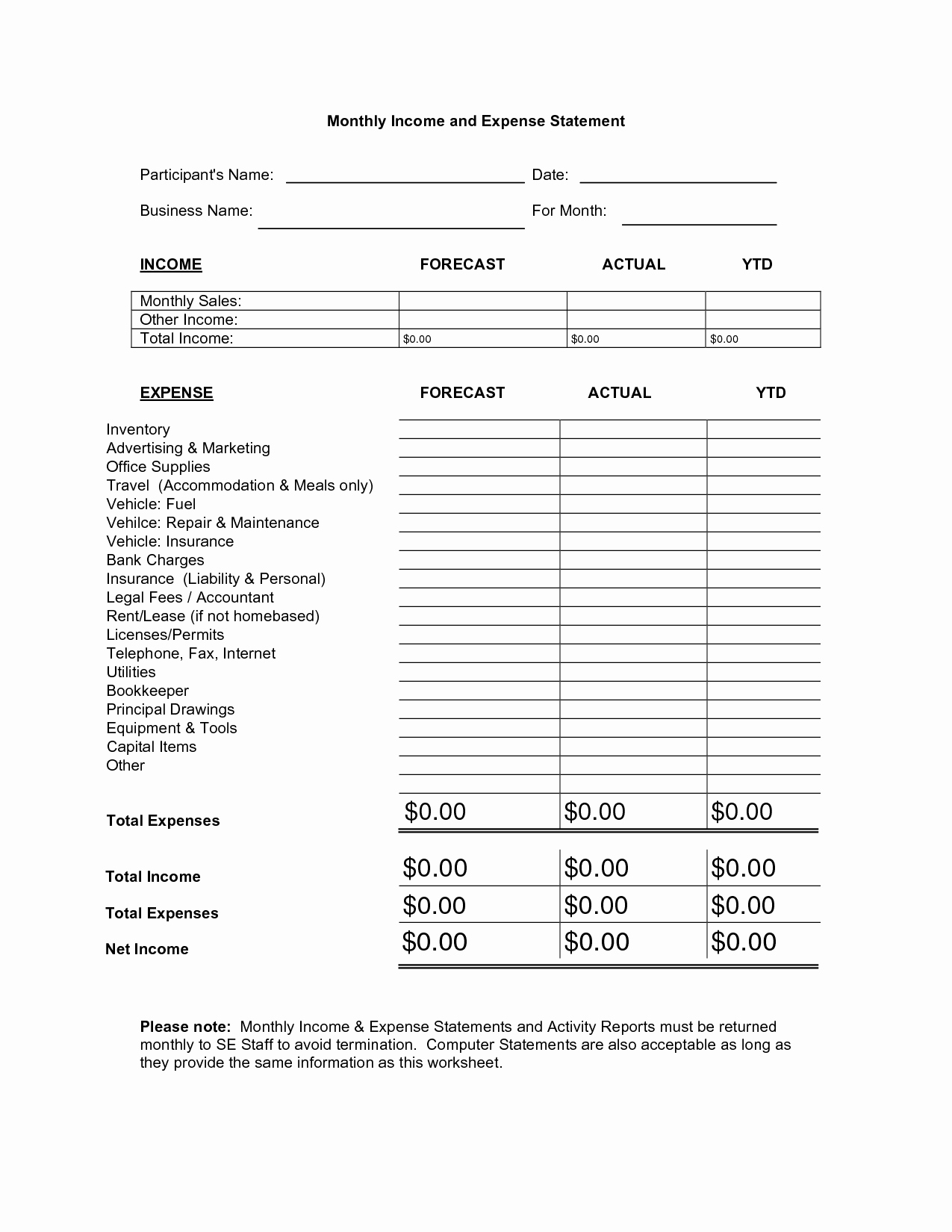 Personal Income and Expense Spreadsheet Best Of Best S Of Monthly In E Expense Report Template