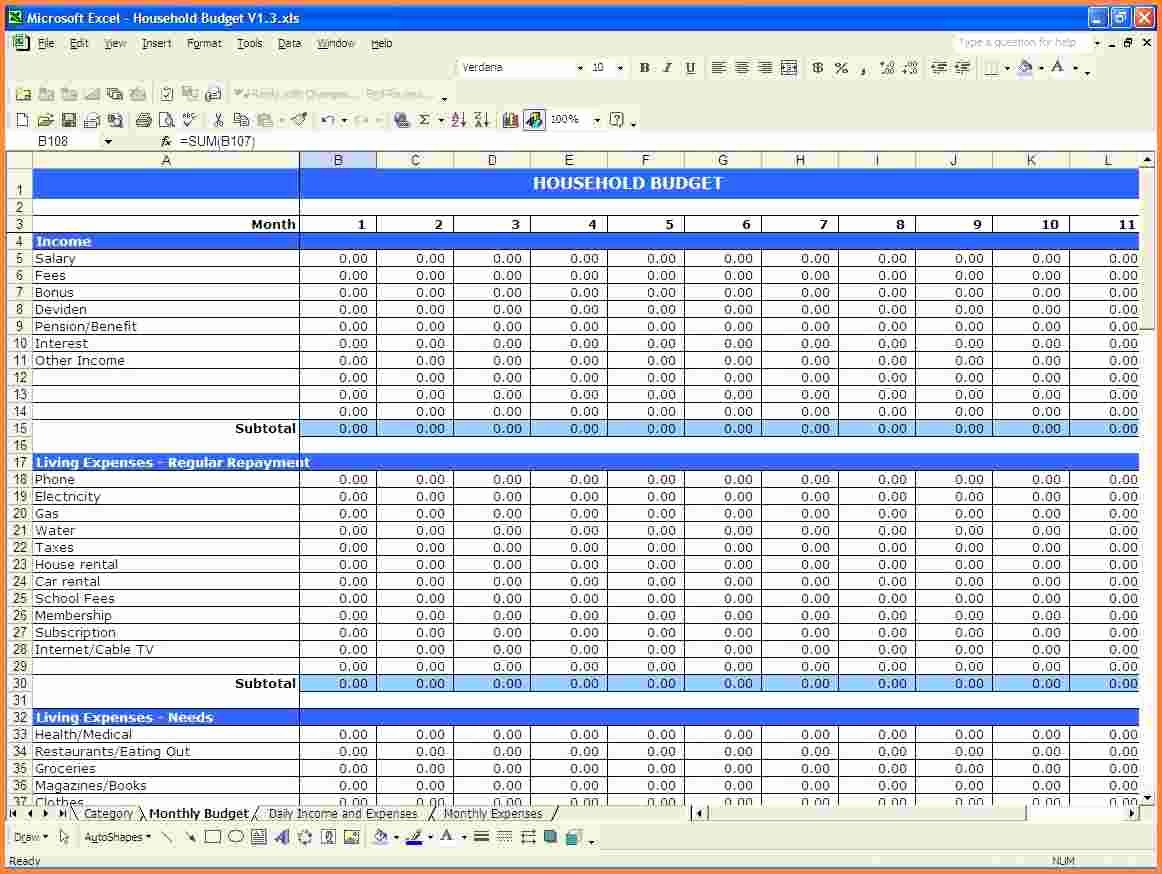 Personal Income and Expense Spreadsheet Fresh 10 Personal In E and Expenses Spreadsheet