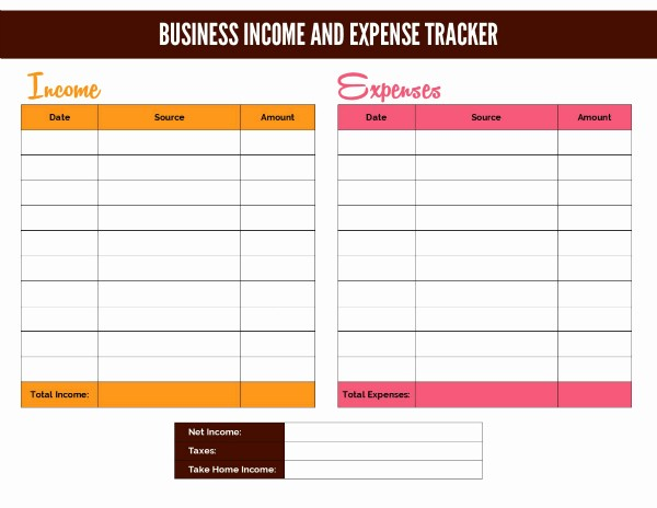 Personal Income and Expense Spreadsheet Lovely Free Business In E Worksheet and Google Doc