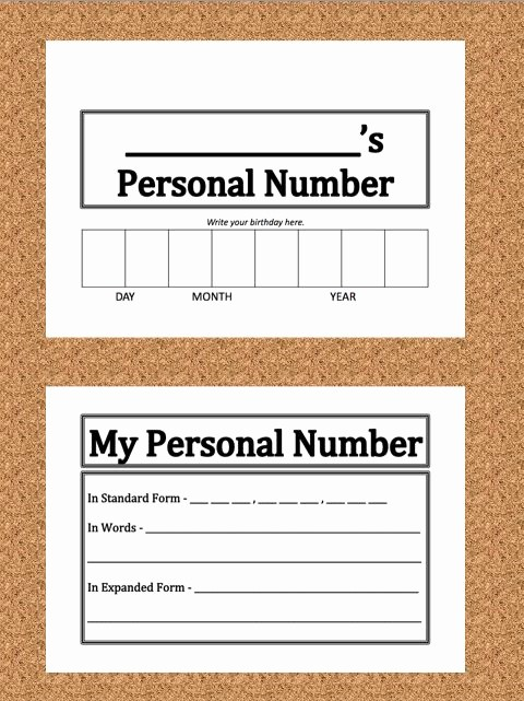 Personal Information form for Students Awesome 19 Best Reading Writing & Paring Multi Digit Numbers