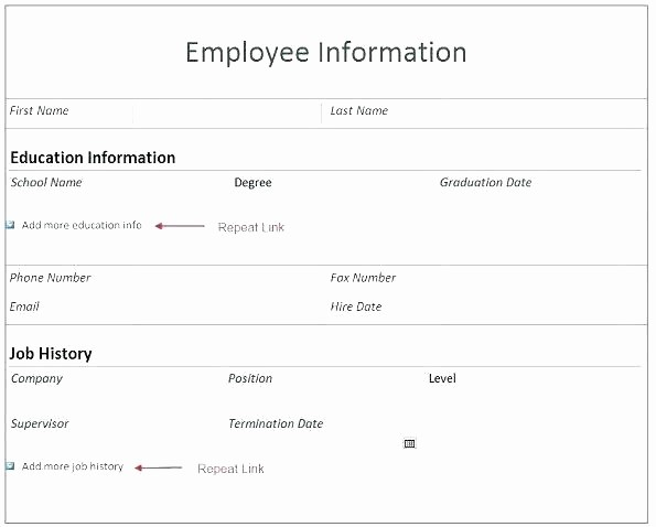 Personal Information form for Students Beautiful Personal Fact Sheet Template