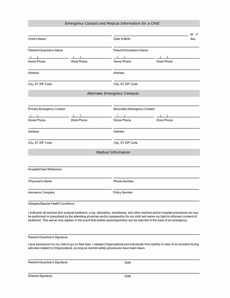 Personal Information form for Students Lovely Free Student Information Sheet Template