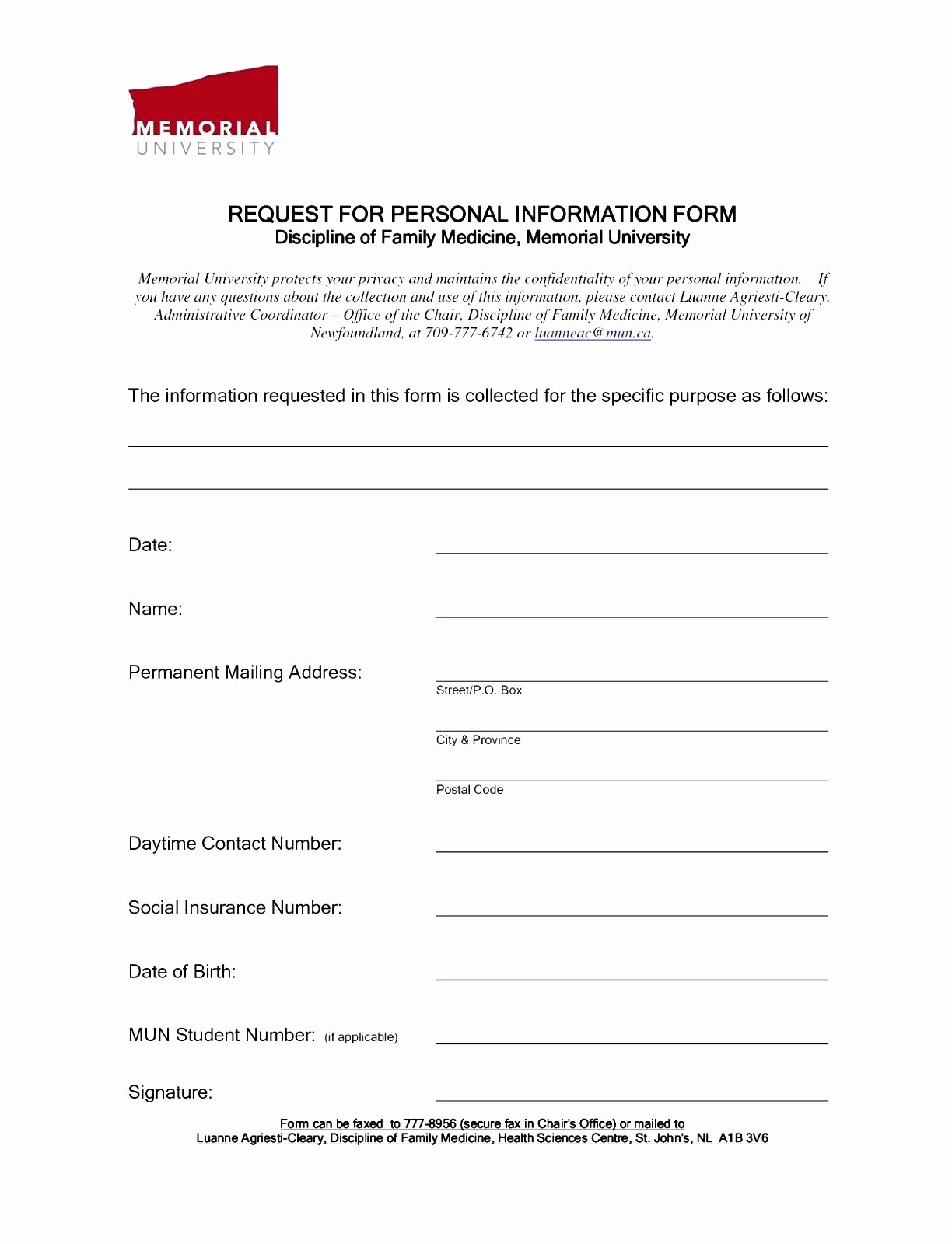 Personal Information form for Students Lovely Template Enquiry form Template Word