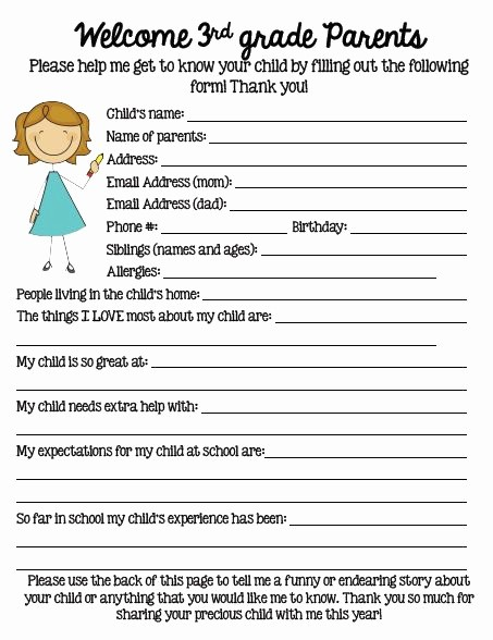 Personal Information form for Students Unique Tuesday Teacher Tips Documentation Fern Smith S