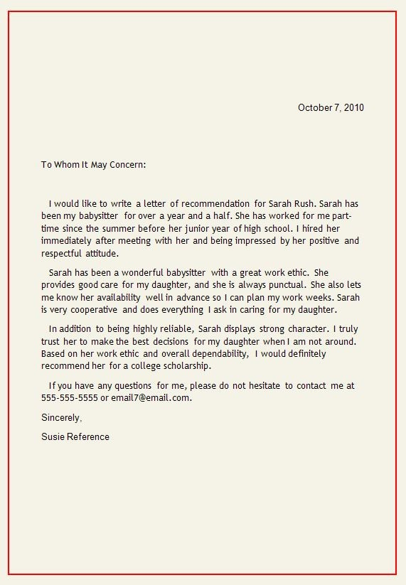 Personal Letter Of Recommendation Templates Awesome Personal Letter Of Re Mendation
