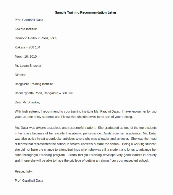 Personal Letter Of Recommendation Templates Best Of 30 Re Mendation Letter Templates Pdf Doc