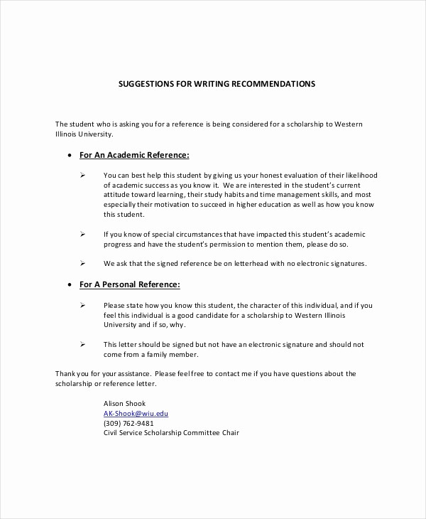 Personal Letter Of Recommendation Templates Elegant Sample Personal Reference Letter 13 Free Word Excel