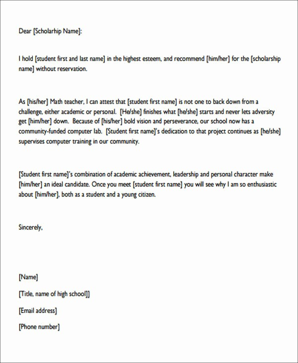 Personal Letter Of Recommendation Templates Fresh 7 Sample Personal Re Mendation Letters