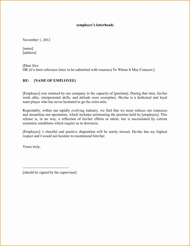 Personal Letter Of Recommendation Templates Inspirational Personal Reference Letter Template