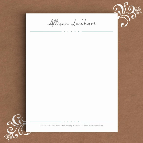 Personal Letterhead Templates Free Download Beautiful 17 Letterhead Templates Pdf Doc