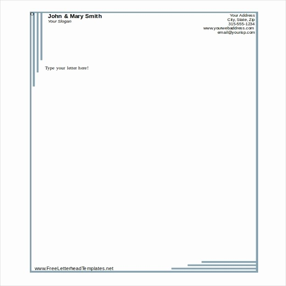 Personal Letterhead Templates Free Download Elegant Business Letterhead Template Word Beepmunk