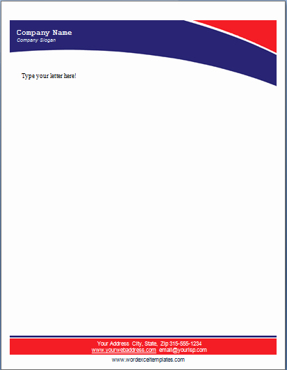 Personal Letterhead Templates Free Download Fresh Ms Word Business Letterhead Templates