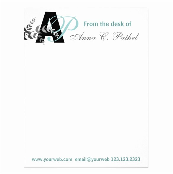 Personal Letterhead Templates Free Download Inspirational 20 Personal Letterhead Templates – Free Sample Example