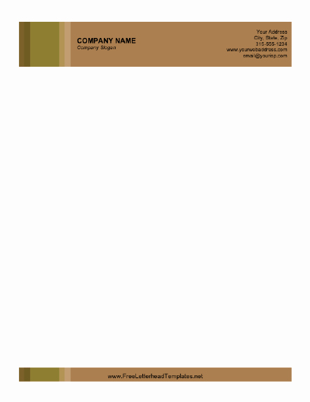 Personal Letterhead Templates Free Download Inspirational Business Letterhead with Brown Background