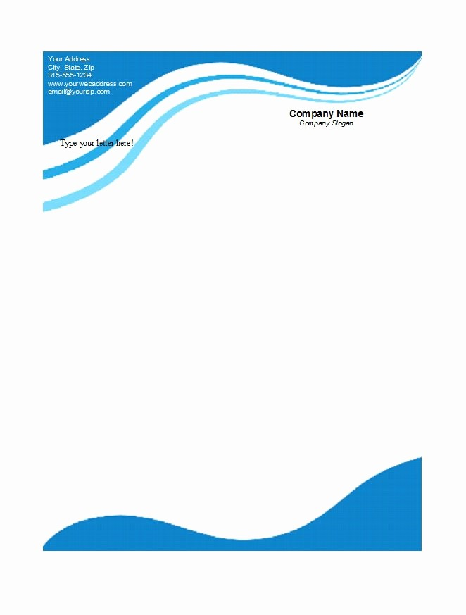 Personal Letterhead Templates Free Download Lovely 45 Free Letterhead Templates & Examples Pany