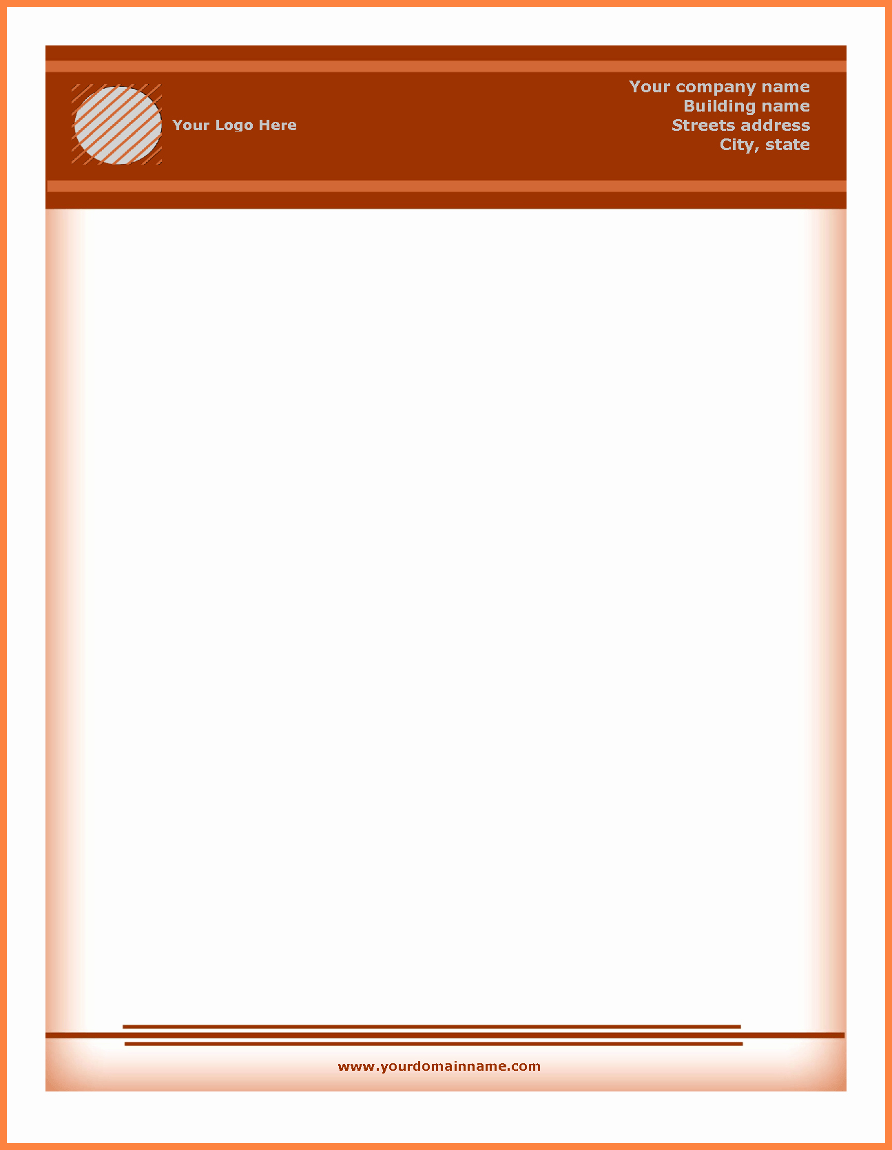 Personal Letterhead Templates Free Download New 5 Letterhead Templates