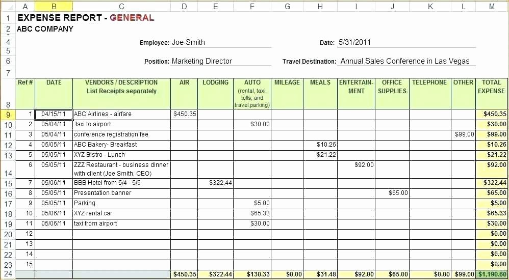 Personal Monthly Expense Report Template Lovely Monthly Expense Template – Picks