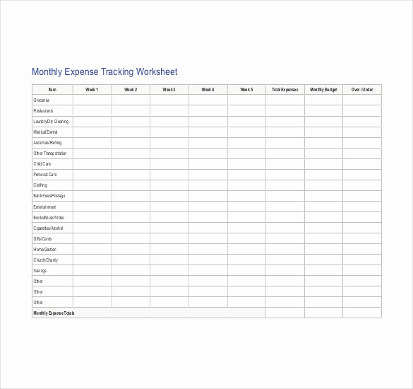 Personal Monthly Expense Report Template Unique Expense Template Uk Driverlayer Search Engine